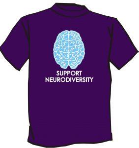 purple support neurodiversity shirt